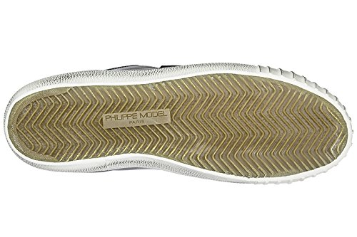 Philippe Model Zapatos Zapatillas de Deporte Hombres EN Piel Nuevo gare Negro