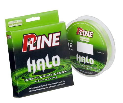 P-Line Halo Fluorocarbon Mist Green Fishing Line 200 YD (Filler spool)