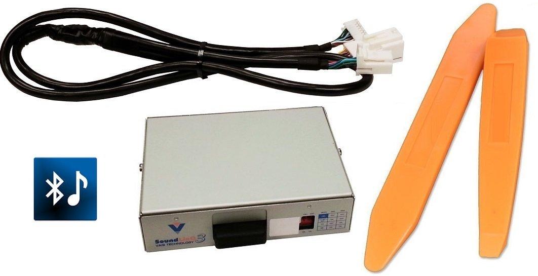 Bluetooth streaming audio kit (Vais SL3B-T) w/ USB charge PLUS dash trim removal tools. For Toyota radios. (Bundle: 2 items)