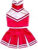 Little Girls' Cheerleader Cheerleading Outfit Uniform Costume Cosplay Pink/White (S / 2-5)
