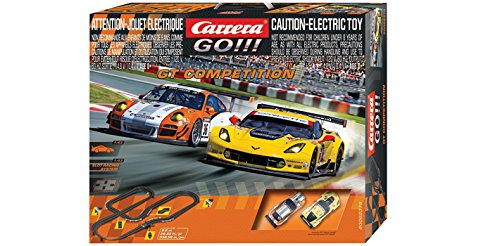 Carrera GO!!! - GT Competition Slot Car Set (1:43 Scale) (Slot Car Track Set)