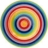 Windhorse Rainbow Striped Ceramic 26cm Dinner Plate (Large)