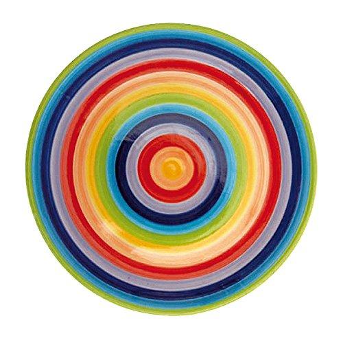 Windhorse, motivo: arcobaleno a righe in ceramica Piatto piano da 26 cm, misura: L (Large)
