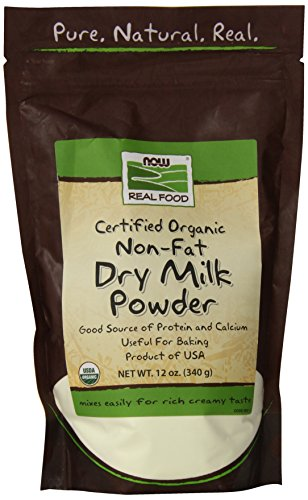Nonfat Dry Milk Powder - NOW Foods, Organic Non-Fat Dry Milk Powder with Protein and Calcium, Product of The USA, 12-Ounce