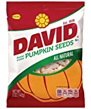 DAVID Roasted and Salted Pumpkin Seeds, 5 oz, 12 Pack