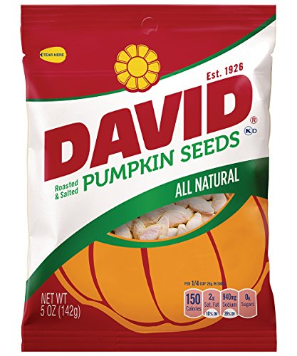 DAVID Roasted and Salted Pumpkin Seeds, 5 oz, 12 Pack Review