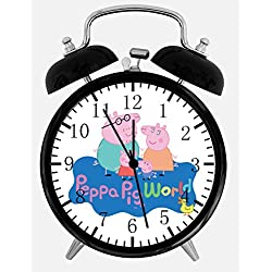 Peppa Pig Alarm Desk Clock 3.75 Home or Office Decor E394 Nice For Gift
