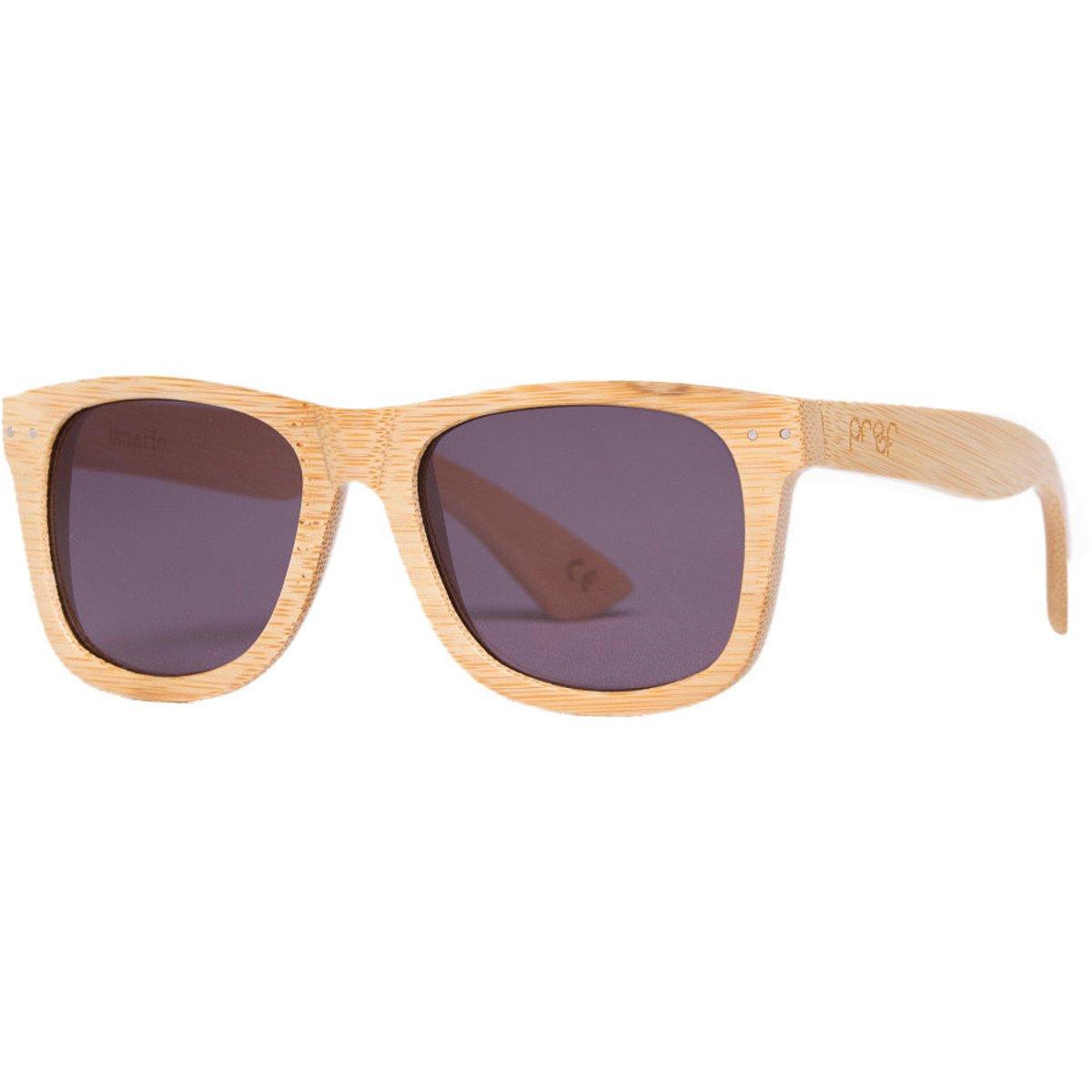 441f11ee5b Amazon.com  Proof Eyewear Ontario Wood Sunglasses Bamboo Gray Lens ...