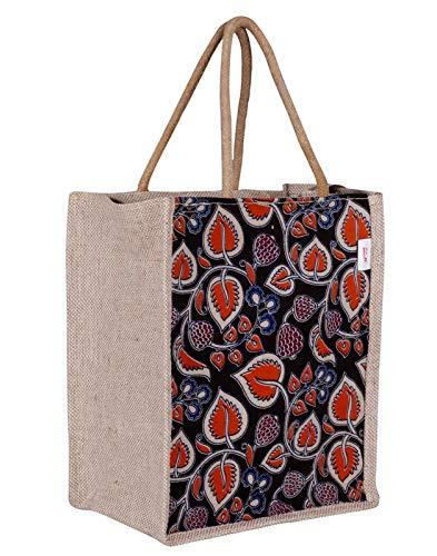 NK Bags NK Multipurpopse Waterproof Unisex Jute Lunch Bag  Beige