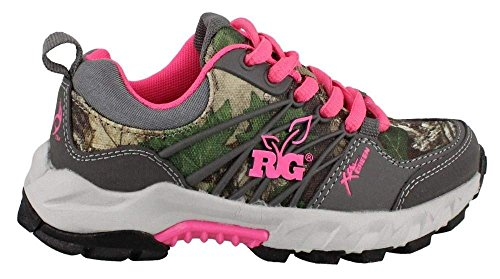 Girl's Realtree Outfitters, Miss Bobcat Sneakers CAMO PINK 5 M