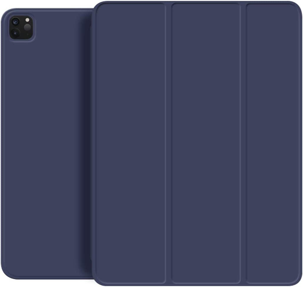 """KenKe for New iPad Pro 11 Inch 2020 Case, Strong Magnetic Trifold Stand Case Cover with Auto Sleep/Wake [Support Apple Pencil Pair Charging] Fit iPad Pro 11"""" 2020 & 2018 Release -Navy"""