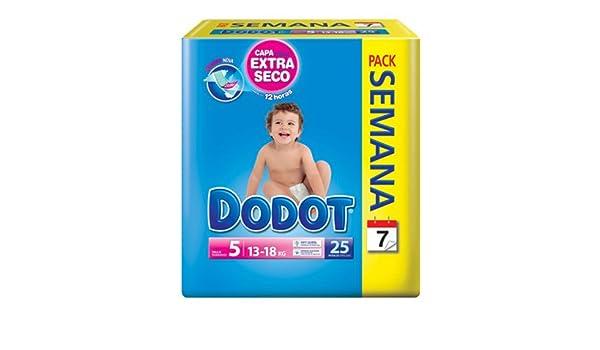Pañales Dodot Etapas Talla 5 (de 13 a 18 kg) 25 Unidades: Amazon.es: Salud y cuidado personal