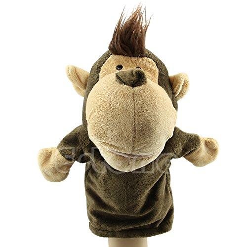 Shoresu Hand Puppet Monkey Pet Plush Toy Hot Cute Speak Talking Sound Record Hamster Educational Toy for Children Gift Monkey 24×16 cm