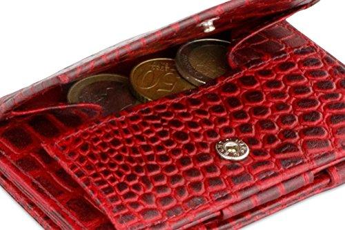 Crocus Monedas De Billetera Cuero Burdeos Rfid Clave Garzini Azafrán Magia Con 1qIwW1E8