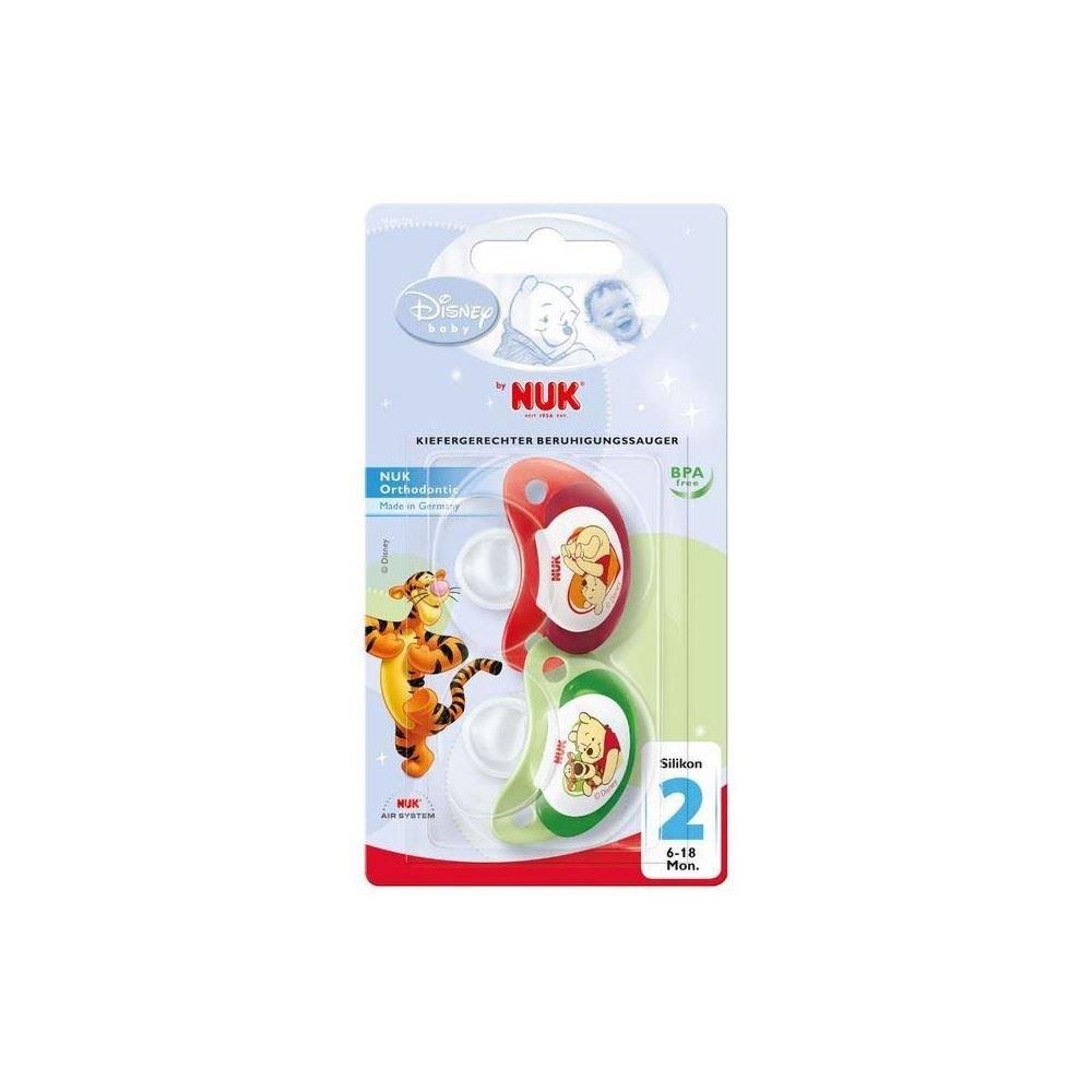 NUK Chupete De Silicona Winnie The Pooh 6-18Mth (2) (Paquete ...