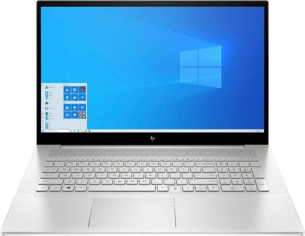 HP Envy 17T 2020 i7-1065G7, 1TB SSD, 32GB RAM 3200 DDR4, 4GB Nvidia MX330, 17.3 FHD Touch, Wi-Fi 6, Win 10 Pro, HD CAM, 4 Cell Battery, Natural Silver, B&O Sound, 64GB Tech Warehouse LLC Flash Drive