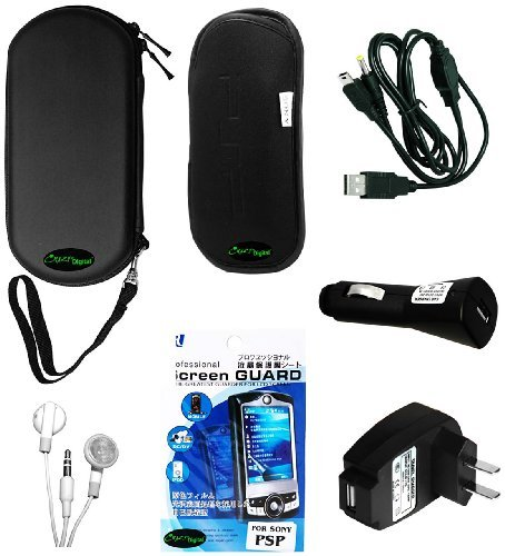 PSP 3000 7 Items Accessory Bundle - (Lifetime Warranty, Bulk Packaging)