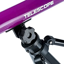 Youtop Educational Adjustable Tabletop 20/40/60X Astronomical Telescope Toy Starter Kit w/ Tripod for Kids Purple