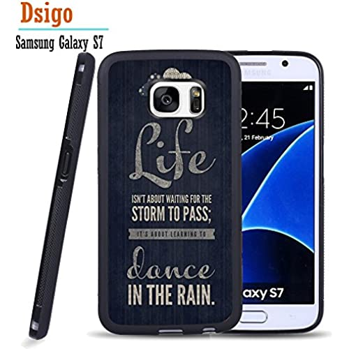 Galaxy S7 Case, Samsung S7 Black Case, Dsigo TPU Black Full Cover Protective Case for New Samsung Galaxy S7 - Black clouds LIFE Sales