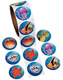 TROPICAL SEA LIFE ROLL STICKERS - BULK (2-Pack)