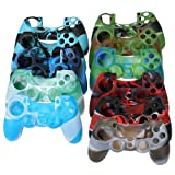 Camouflage Silicone Protective Case Cover For PS4 Controller.