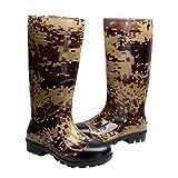 Man Knee High Rubber Rainboots Waterproof Rubber Boots For Garden Man Rain Footwear Size 10
