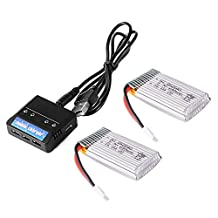 XCSOURCE 2pcs 3.7V 680mAh 25C Lipo Battery + 2 in 1 Battery Charger For Syma X5 X5C X5SC X5SW Quadcopter BC638