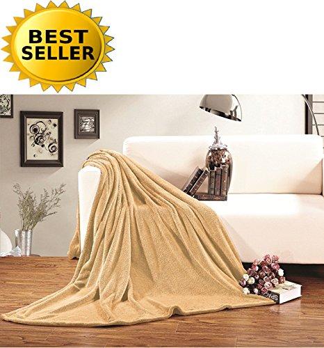 (CELINE LINEN #1 Fleece Blanket on Amazon - Super Soft - Sale - All Season Super Plush Luxury Fleece Blanket, King/Cal King Gold)