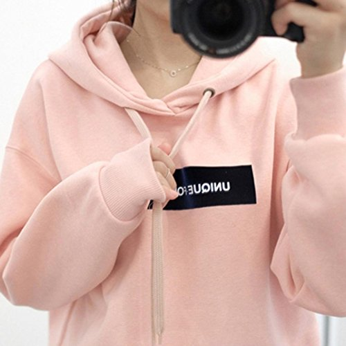 Size S-5XL Hoodies Sweaters,Hemlock Womens Teen Plus Size Sweatshirts Hooded Coats Pullovers Tops (3XL, Pink)