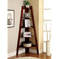 Mopi Five-tier Corner Etagere Cherry Display Unit