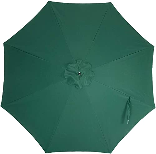 Crestlive Products Universal Patio Umbrella Replacement Canopy for 10ft 8 Ribs Offset Umbrellas Dark Green