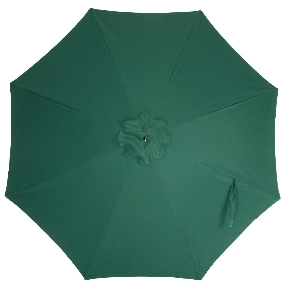 Pebble Lane Living 9 Market Patio Umbrella with Tilt and Crank – Light Lime Green