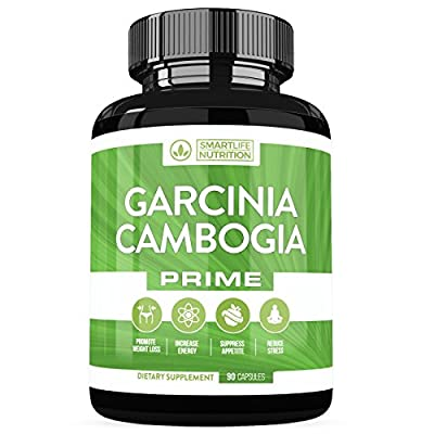 Garcinia Cambogia Weight Loss Pills - 100% Natural HCA Pure Extract Appetite Suppressant, Metabolism Booster & Fat Burner Diet Supplements For Men And Women - Vegan, Non-GMO, Gluten Free - 90 Capsules