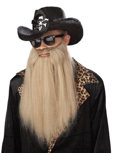 California Costumes Sharp Dressed Man Beard, Blonde, One Size Costume Accessory -