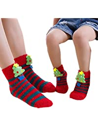 5bda7fd6d3a2 parent-child Christmas Holiday Indoor floor socks - funny christmas Socks