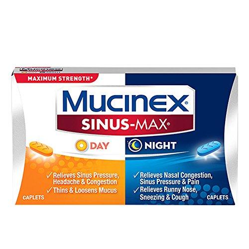 (Mucinex Sinus-Max Max Strength Day & Night Caplets, 20ct)