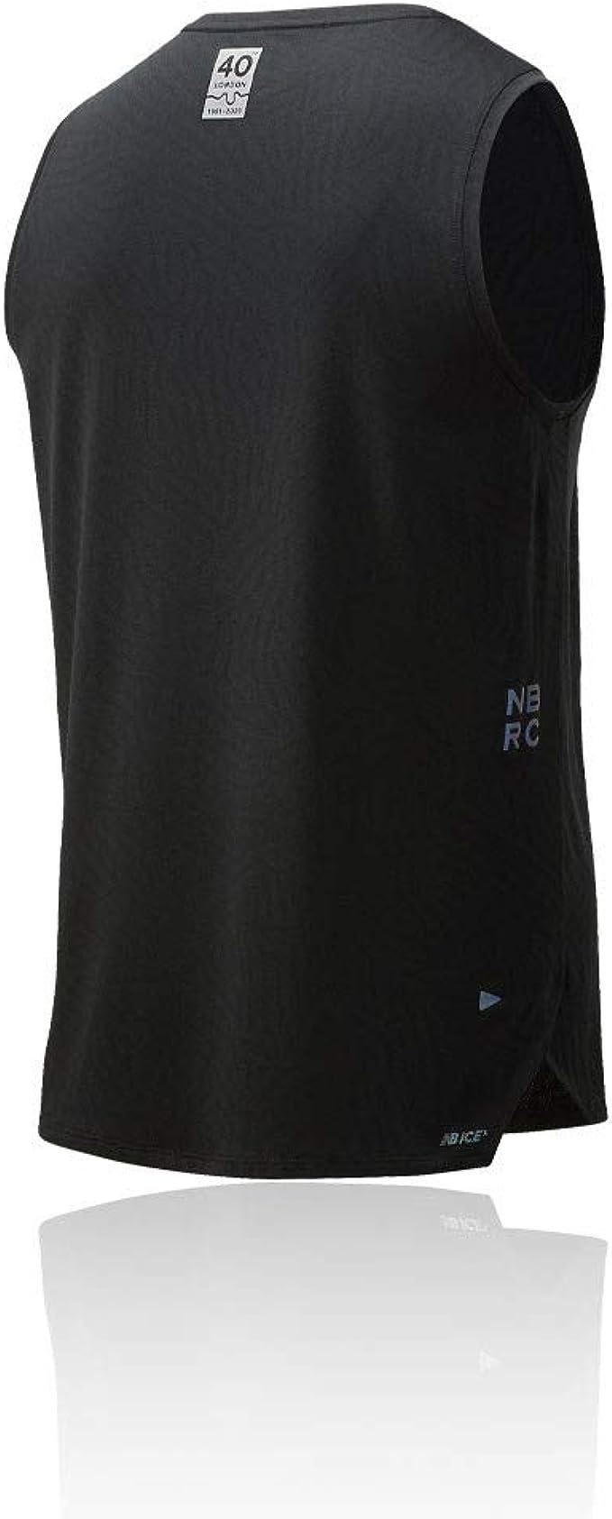 New Balance Mens Q Speed Jacquard Running Vest Black Sports Breathable