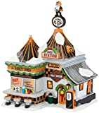 Department 56 North Pole Village Harley Pump and Go Diner Lit House, 8.3 inch