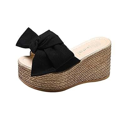 Logobeing Sandalias y Chanclas Plataforma Mujer Sandalias de Vestir Casual Zapatos de Baño Verano Fiesta Chanclas 35-40 (35, A)