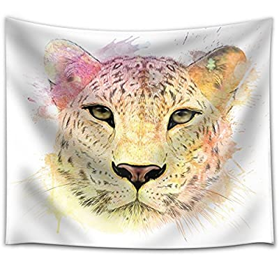 Fun and Colorful Splattered Watercolor Cheetah, Created Just For You, Unbelievable Work of Art