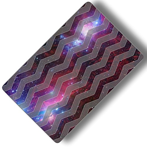 Custom & Decorative {16'' x 10'' Inch} 1 Single, Large ''Gaming'' Flexible Non-Slip Mousepad for Gaming, Made Of Easy-Glide Neoprene w/ Chevron Patterns Galaxy Background & Stars [Pink, Purple & Grey] by mySimple Products