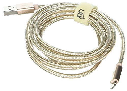 LAX Gadgets Apple MFi Lightning Cable, Gold, 6 Feet by LAX Gadgets