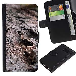 Planetar® Modelo colorido cuero carpeta tirón caso cubierta piel Holster Funda protección Para Samsung Galaxy S6 / SM-G920 ( Plant Nature Forrest Flower 29 )