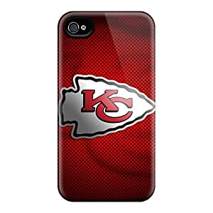 Durable Hard Cell-phone Cases For Iphone 6 (BSR6242fhzg) Provide Private Custom Beautiful Kansas City Chiefs Pattern