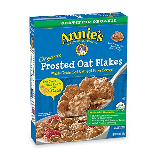 Annie's Organic Cereal, Frosted Oat Flakes, Whole Grain Cereal, 10.8 ()