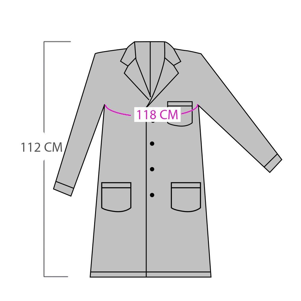 AONER Camice medico infermiera laboratorio sanitaria di lavoro bianca con maniche lunghe per uomo