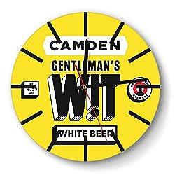 LZJDY Camden Brewery Gentleman's Wit Modern Wall Clock Decorative Home Quiet Clock