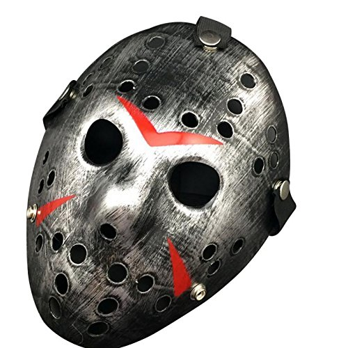 Masquerade Masque - Party Cosplay Vintage Halloween Masks Jason Freddy Hockey Mask Delicated Thick Pvc Costume - Jason Halloween Masks Women Masquerade Vintage Masque Mask ()