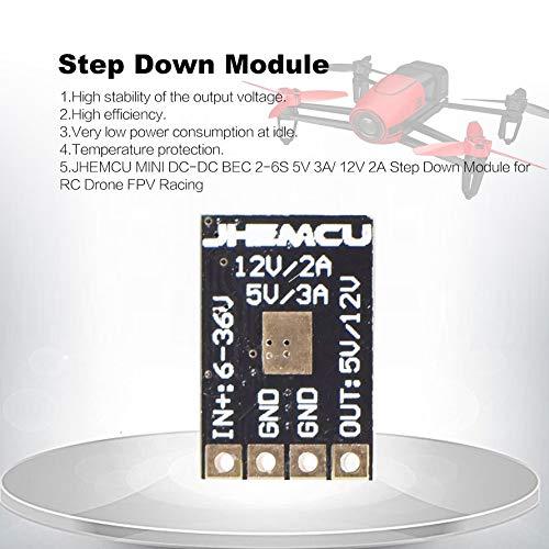 HoganeyVan JHEMCU MINI DC-DC BEC 2-6 S 5 V 3A 12 V 2 A Step Down Module Per RC Drone FPV Racing Modulo di alimentazione Voltage Buck Converter
