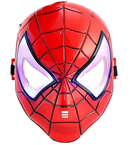 HLLWN Expresss, Spiderman, LED Light Up Halloween Mask 2014 HLWMSK71